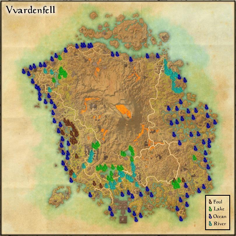 Vvardenfell - Fishing Holes